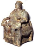 Mother-goddess from Catal-Huyuk, Turkey