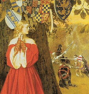 Frank Cadogan  Cowper Lancelot Slays the Caitift Knight Sir Tarquin