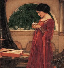 John William Waterhouse The Crystal Ball