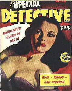 Cover of a vintage detective story