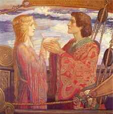 John Duncan Tristan and Isolde (drinking the love potion)