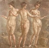 Three Graces Roman fresco