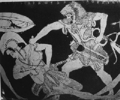 Heracles slaying Amazon