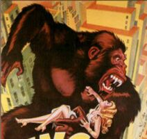 The King Kong movie poster