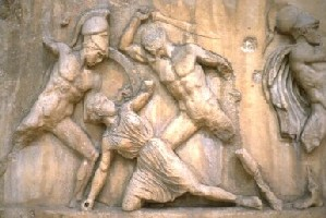 Greeks slaying Amazon