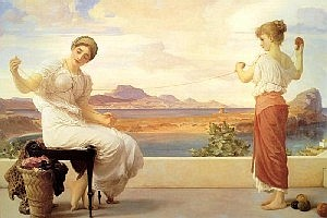 Frederick Lord  Leighton Winding the Skein